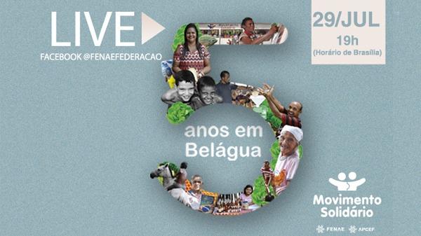 Movimento Solidário: 5 anos em Belágua serão tema de live nesta quarta (29)