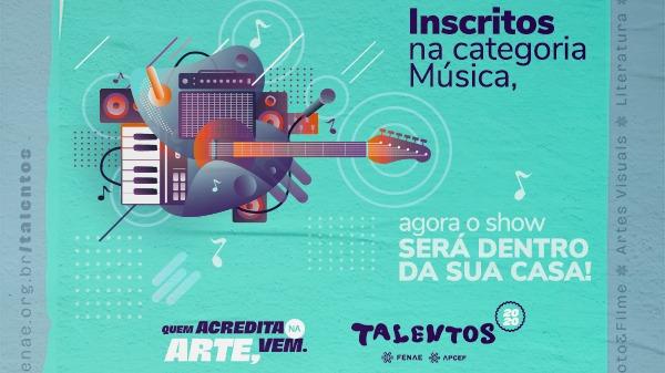 Talentos Fenae/Apcef: vídeos para avaliação técnica da categoria Música devem ser enviados até 16 de agosto