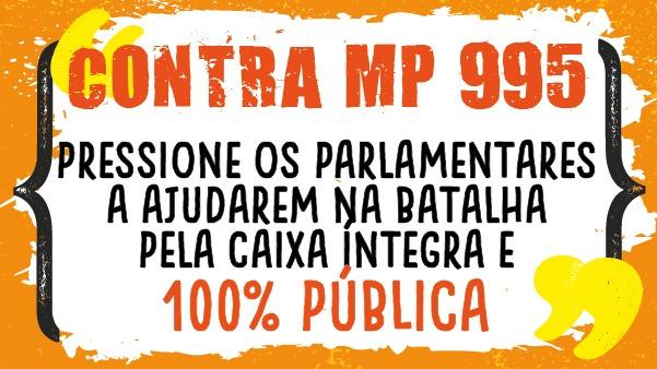 Ajude a pressionar o presidente do Senado a devolver a MP 995 ao Planalto