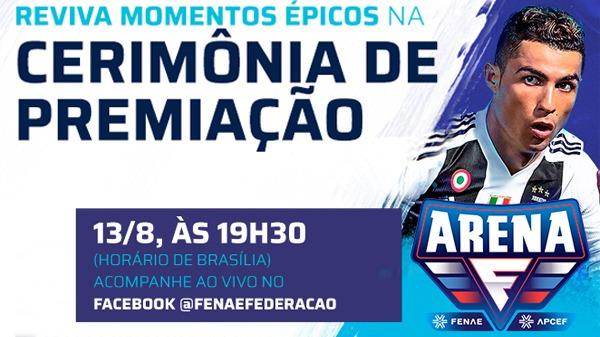 Live Arena premia os vencedores e reforça sucesso do torneio de jogos on-line