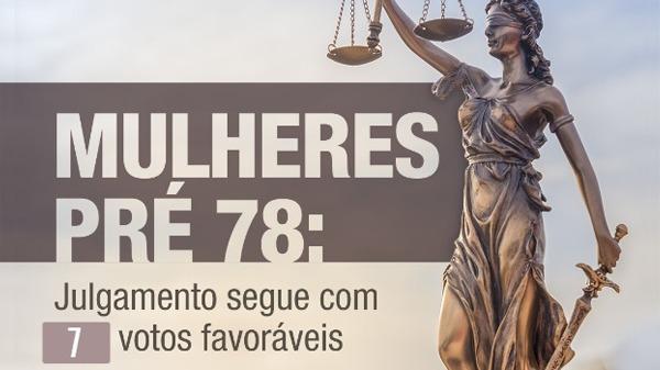 Julgamento das mulheres Pré-78 segue com sete votos favoráveis