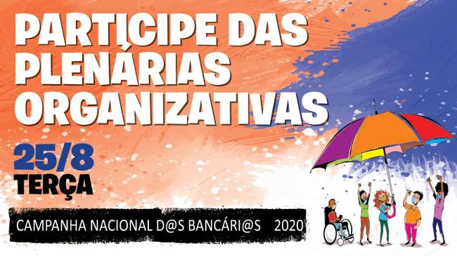 Participe das plenárias organizativas nesta terça-feira 25