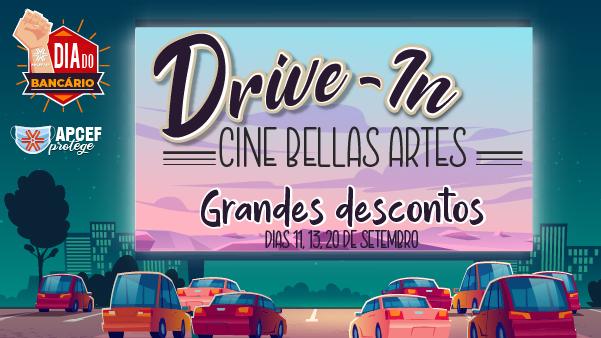 A Apcef/SP dá um descontão no ingresso do Cine Belas Artes Drive-In