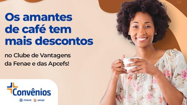 Café quentinho e com desconto servido agora na Plataforma de Convênios!