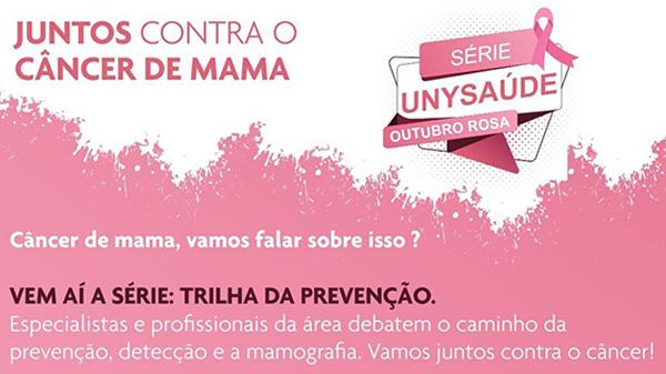 Outubro rosa: participe do webinar especial sobre a prevenção do câncer de mama