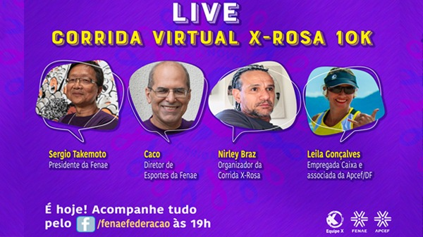 """Acompanhe a live """"Corrida Virtual X-Rosa 10K"""": bem-estar, exercícios físicos e como participar"""