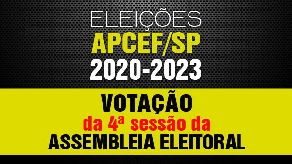 4ª sessão da Assembleia Eleitoral está aberta até dia 12. Exerça seu direito, vote!