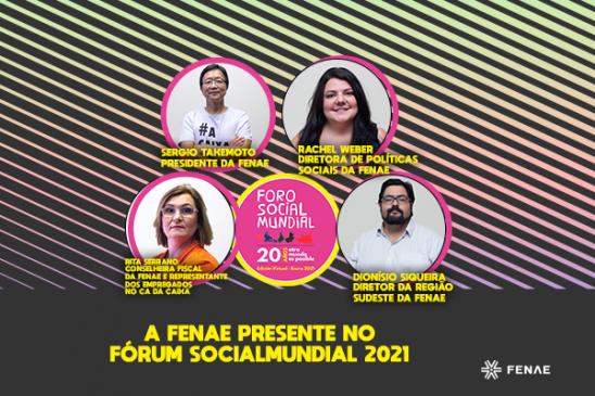 Fenae terá participação ativa no Fórum Social Mundial. Confira a programação