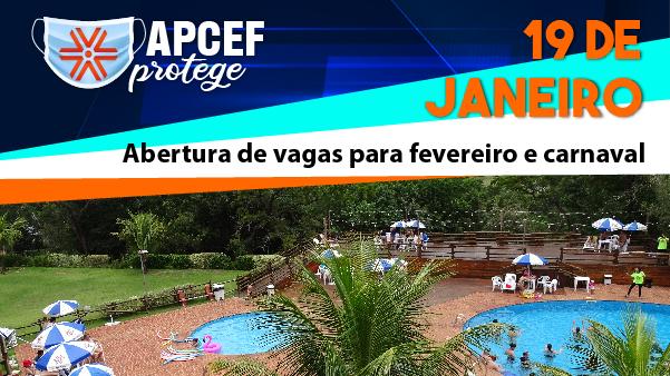 Reservas para fevereiro, inclusive carnaval, serão abertas nesta terça-feira (19)