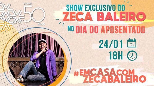 Fenae e Apcefs comemoram o Dia do Aposentado com live exclusiva de Zeca Baleiro