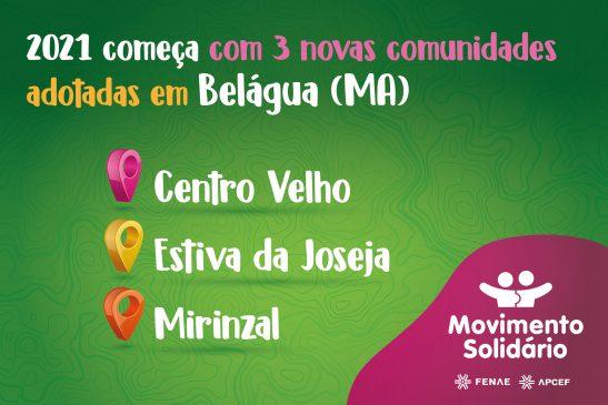 Novos projetos do Movimento Solidário beneficiam mais três comunidades de Belágua