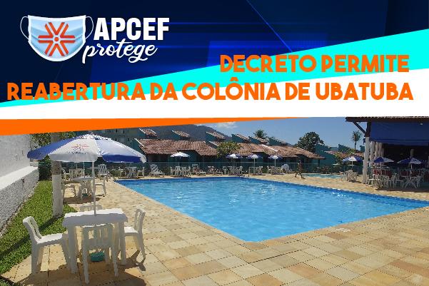Novo decreto permite reabertura da Colônia de Ubatuba para hospedagem