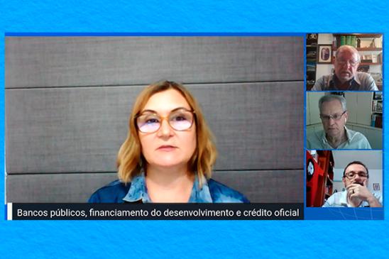 Rita Serrano defende papel da Caixa pública em ciclo sobre reforma do sistema financeiro no Brasil