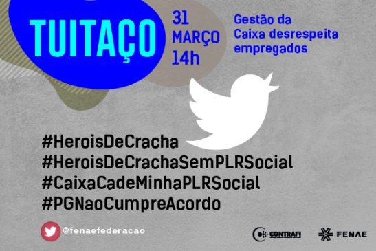 Empregados fazem tuitaço em defesa da PLR nesta quarta, 31