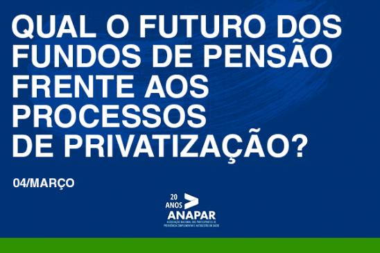 Ciclo de Debate promovido pela Anapar: entidades agregam forças contra o ataque de privatizações em curso no país