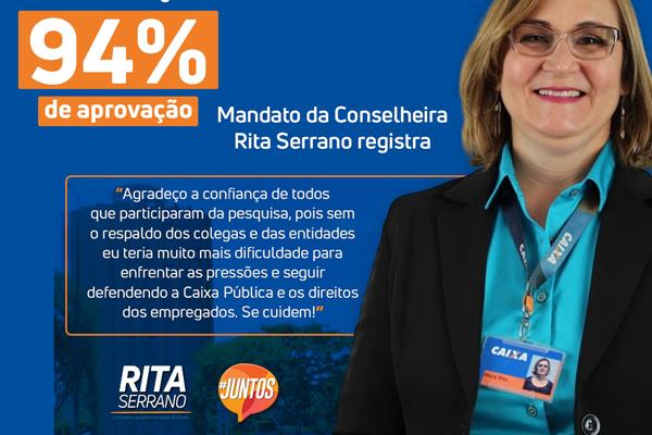 94% dos empregados aprovam atuação de Rita Serrano