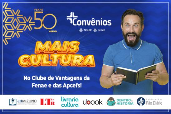 Livros, produtos de papelaria e cursos com descontos de até 30% na plataforma de convênios da Fenae