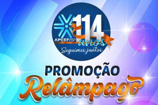 """Participe da """"Promoção Relâmpago – Aniversário da Apcef/SP"""": corre porque ela é rápida mesmo!"""