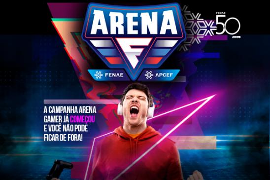 """Lançada a segunda interação da campanha """"Arena Gamer"""" no aplicativo Viva/Fenae/Apcef"""