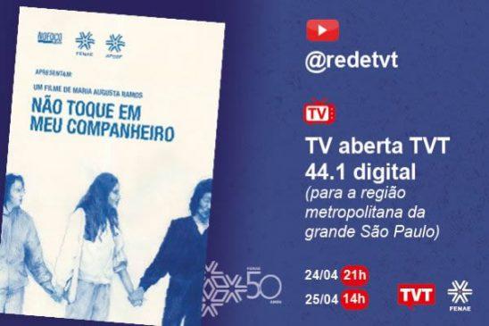 Não Toque em Meu Companheiro estreia no Cine TVT em 24 de abril, com nova exibição no dia seguinte