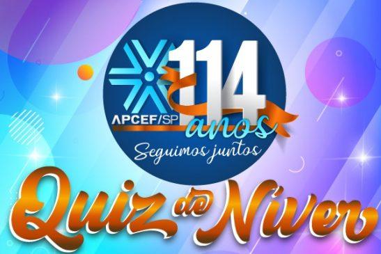 Participe do Quiz de Níver da Apcef/SP e concorra a prêmios!
