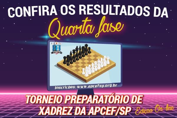 Quarta fase do Torneio de Xadrez foi encerrada em 22 de abril. Confira os resultados