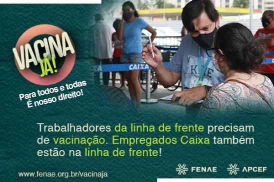 Vacina já para todos, com prioridade para quem está na linha de frente