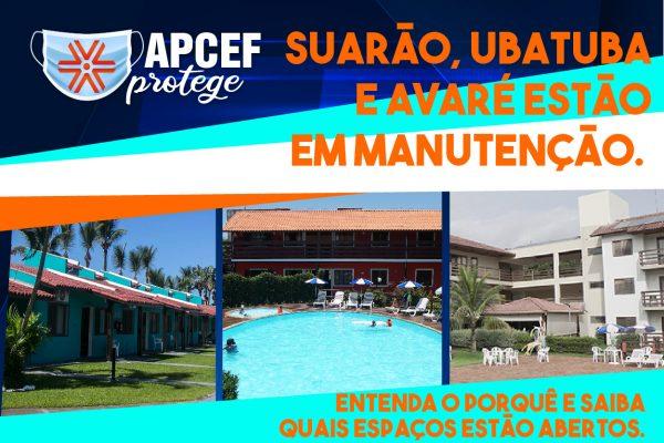Colônias de Avaré, Suarão e Ubatuba permanecem fechadas até o fim de junho