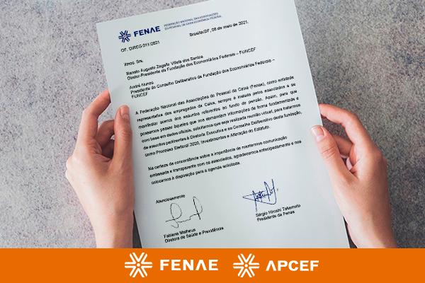 Fenae envia ofício à Funcef solicitando reunião à presidência e conselho deliberativo da Fundação