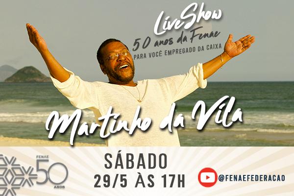 Vem aí Martinho da Vila para comemorar os 50 anos da Fenae