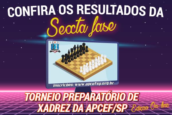 Sexta fase do Torneio de Xadrez foi encerrada em 17 de maio. Confira os resultados