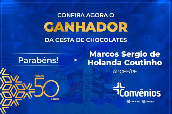Convênios: ganhador da cesta de chocolate é da Apcef Pernambuco