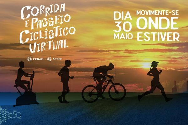Inscreva-se na Corrida e Passeio Ciclístico Virtual Fenae/Apcefs e acesse aulas de treinos