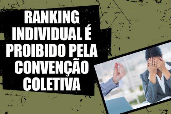 Apcef/SP recebe denúncia sobre ranking individual, o que é proibido pela Convenção Coletiva