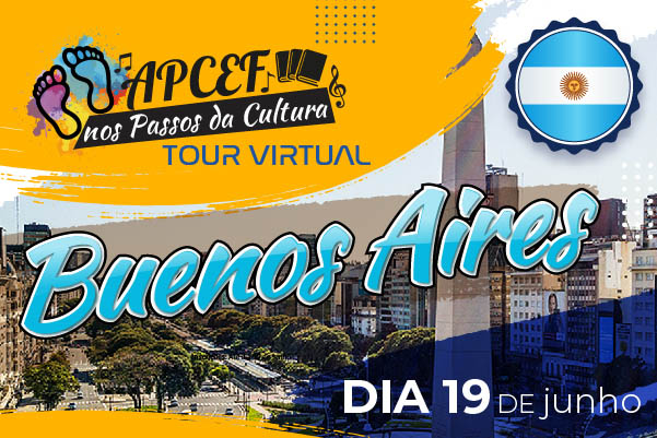 Junho tem tour virtual por Buenos Aires. E vai ser no sábado, dia 19. Participe!