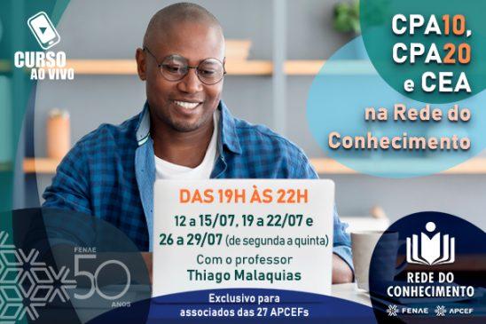 """CPA-10, CPA-20 e CEA: Rede do Conhecimento marca """"aulões"""" preparatórios ao vivo"""