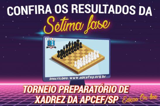 Sétima fase do Torneio de Xadrez foi encerrada em 1º de junho. Confira os resultados