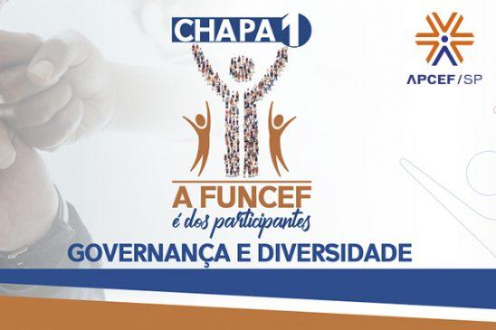 Apcef/SP apoia a Chapa 1: A Funcef é dos Participantes