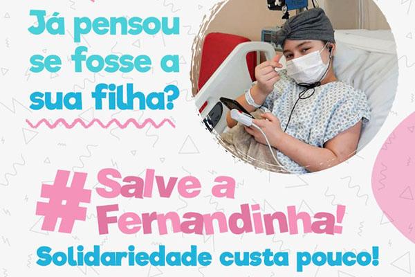 Vamos ajudar a Fernandinha? Filha de empregada da Caixa precisa de sua solidariedade!