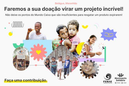 O Movimento Solidário está em campanha para concluir projetos em Belágua