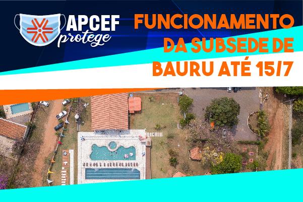 Confira o horário de funcionamento da Subsede de Bauru até 15 de julho
