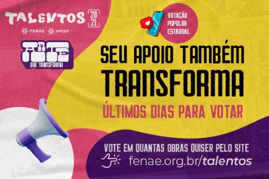 Talentos 2021: votação termina no próximo sábado, escolha sua obra favorita!