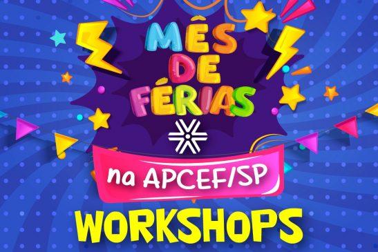 Programação de férias da Apcef/SP tem workshop literário, de desenho e culinário. Inscreva seus dependentes!