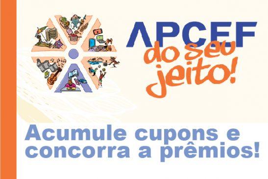 Apcef do seu jeito: além dos pontos da Fenae, associado à Apcef/SP acumula cupons e concorre a prêmios