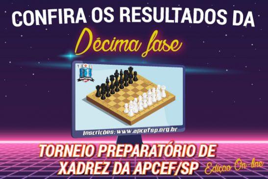 10ª fase do Torneio de Xadrez foi encerrada em 9 de julho. Confira os resultados