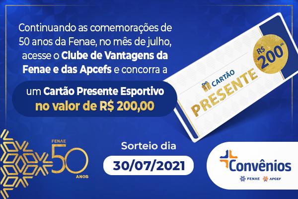 Utilize a plataforma Convênios e participe do sorteio comemorativo dos 50 anos da Fenae