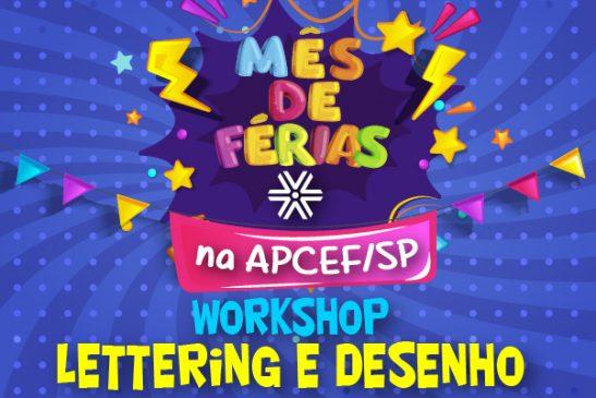 Crianças aprendem técnicas de desenho e de Lettering em Workshop no sábado (24)