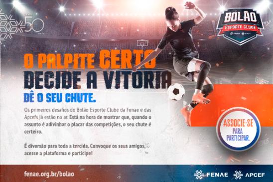 Bolão Esporte Clube Fenae/Apcefs: primeiros desafios já estão no ar para receber palpites