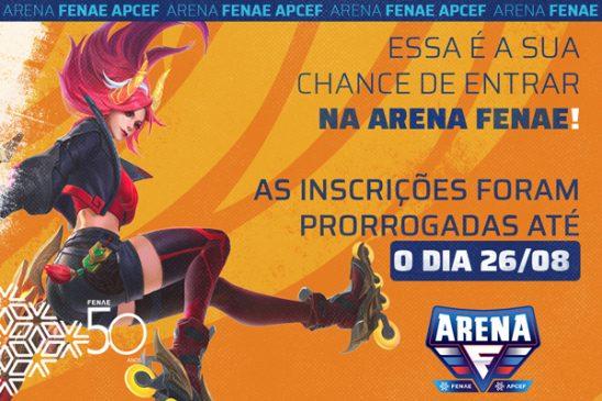Prorrogadas! As inscrições para a Arena Fenae vão até 26/08, participe!