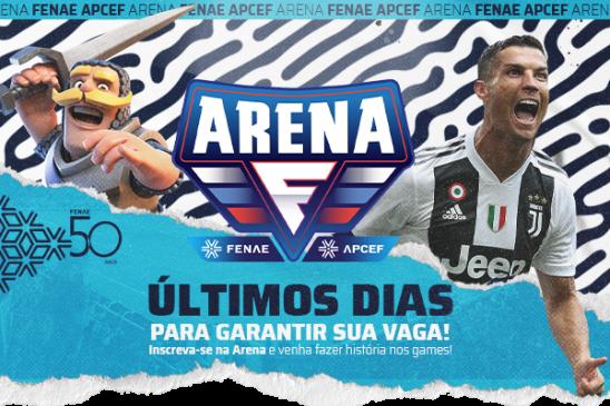 Ainda dá tempo! As inscrições para a Arena Fenae vão até esta sexta, participe!